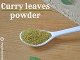 Curry leaves powder | karuveppilai podi and cuponation - a review