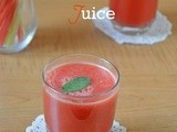 Fresh watermelon juice - summer drink recipes
