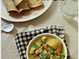 Mixed vegetable kurma(vegetables in coconut curry)