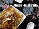 Onion and mint raita