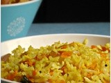 Rice varieties  | carrot rice recipe - step by step