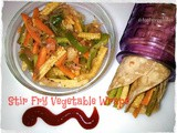 Stir Fry Vegetable Wraps