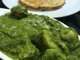 Aloo Palak - Side dish for Roti / Chapathi