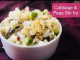 How to make Cabbage Peas Poriyal / Cabbage Stir fry - Vegetarian Recipes