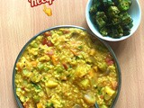 One Pot Meal - Mixed Vegetable Sambar Sadam