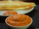 Peanut Onion Tomato Chutney - Side dish for Idli / Dosa