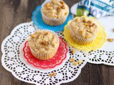 Apple Walnut Muffins | Eggless Apple Walnut Muffins