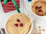 Eggless Microwave Single Serving Peanut Butter Mug Cake