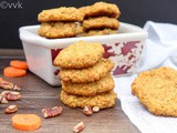 Eggless Oatmeal Carrot Cookies
