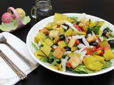 Garden Salad With Pickles And Balsamic Vinegar