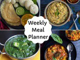 Indian Vegetarian Meal Plan | Weekly Meal Planner