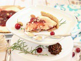 No Bake Cranberry Sauce Cheese Cake with Agar Agar