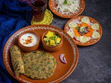 Simple Lunch Menu with Methi Paratha