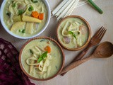 Thai Coconut Curry Vegetable Noodle Soup | Vegetarian Khao Soi | Instant Pot Noodle Soup