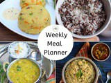 Weekly Meal Planner with Various Grain Options