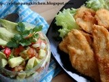 Avocado Mexican Salsa with Crispy Chicken