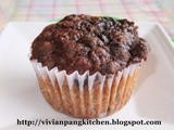 Banana Chocolate Chips Cupcake with Melted Chocolate Topping