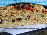 Cream Cheese Mixed Fruits Oatmeal Bar