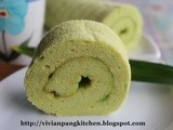 Pandan Coconut Swiss Roll/ Chiffon Cake Method