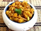 Aloo Gobi sabzi Recipe  - Cauliflower Potato curry - Cauliflower potato Stir fry