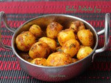 Baby Potato fry - Baby Potato Roast - Baby Potato Vepudu