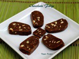 Easy Chocolate Fudge - No bake dessert - No Cook Recipe (With Milk Bikis)