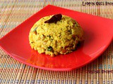 Easy Lemon Oats Recipe - Oats nimmakaya pulihora