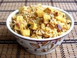 Indian Style Paneer Fried Rice - Spicy Paneer Fried Rice Recipe