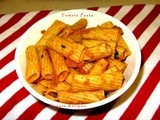 Indian style tomato pasta  - indian pasta recipes - italian food