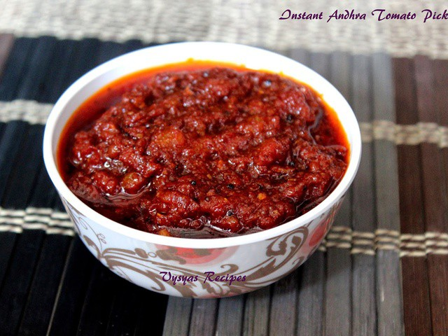 how to make tomato chutney andhra style