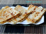 Paneer Quesadilla - Paneer Quesadilla on Stove Top
