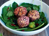 Canellini bean falafel with beet root and carrots - Φαλάφελ από φασόλια χάντρες με παντζάρι και καρότο