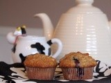 Low fat, healthy blueberry muffins
