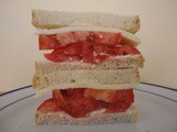 Tomato, Mayonnaise, Cheese Sandwich…First Sandwich of the Tomato Season