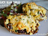 Black Bean Chilli-Loaded Potato Skins - Suma Bloggers Network