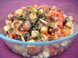 Bulghar Wheat Salad with Halloumi and Vegetables