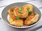 Halloumi and Double Potato Cakes