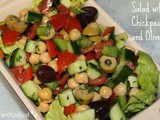 Herby Salad with Chickpeas and Olives
