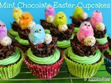 Mint Chocolate Easter Cupcakes (Vegan)