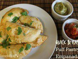 Puff Pastry Empanadas with Black Beans