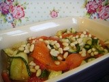 Red Pepper & Courgette Salad (vegan)