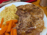 Cooking with aldi: Sautéed Pork Chops with Cider Sauce and Apple-Infused Carrots