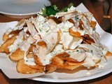 Warm Kettle Chips with Marzetti Blue Cheese Sauce