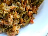 Broccolette mung dal masala/ Broccolette lentil curry