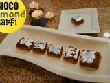 Chocolate Badam Barfi recipe|Double layered choco Almond fudge for Diwali