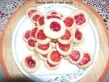Cookie with a red mole (Eggless)