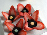 Strawberry Blossom |Quick Strawberry chocolate recipe|Valentine snack