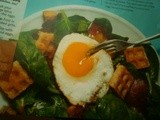Bacon, Egg, and Spinach Salad