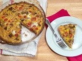 Bacon, Tomato, and Mushroom Quiche with Whole Wheat Crust