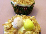 Bird Nest  Carrot Cake Cupcakes with Cream Cheese Frosting